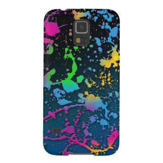 paint splatter color colors class brush stroke art case for galaxy s5