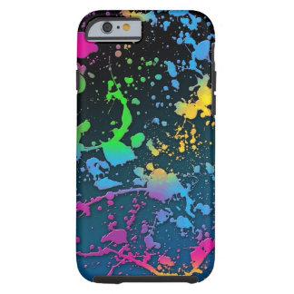 paint splatter color colors class brush stroke pap tough iPhone 6 case