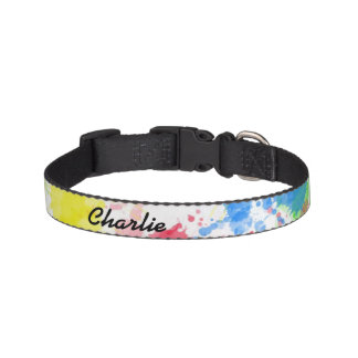 Paint Splatter & Name Dog Collars