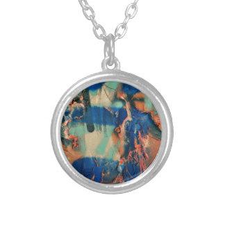 paint Work Colors Round Pendant Necklace