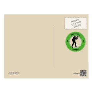 Paintball Combat Postcard