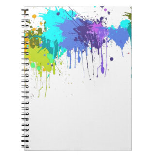 paintball splatter matters spiral notebook