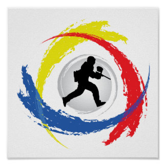 Paintball Tricolor Emblem Poster