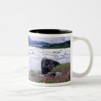Paintbrush, Lupine, Fireweed. Icebergs Russell Two-Tone Coffee Mug