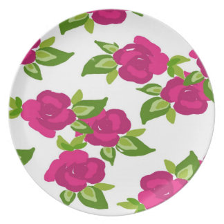 Painted Floral Decorative Plate