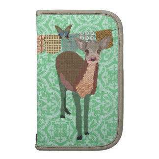 Painted Floral Fawn Green Planner Rickshaw