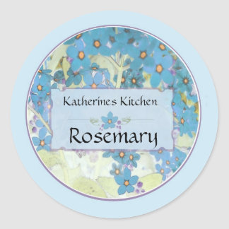 Painted Forget me nots a Round Sticker