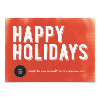 Painted Holidays Red Flat Card