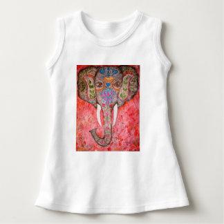 Painted Indian Elephant Baby Sleeveless Dress