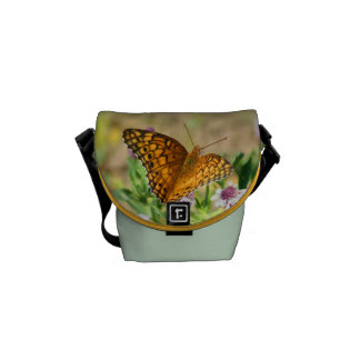 Painted Lady Butterfly with Flowers Mini Bag Messenger Bag