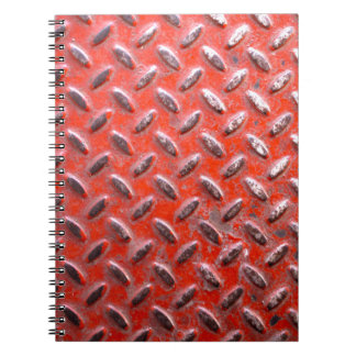 Painted Metal Grunge Texture Spiral Notebook