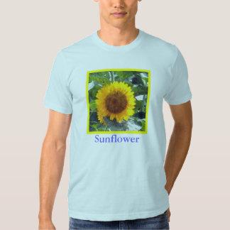 """""""Painted"""" Orange Gold Sunflower Shirts"""