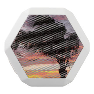 Painted Palm Sunset White Boombot Rex Bluetooth Speaker