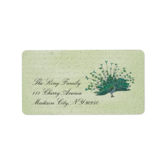 Painted Peacock Vintage  Label Address Label