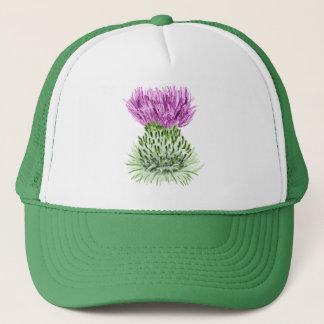 Painted Scottish Thistle Trucker Hat