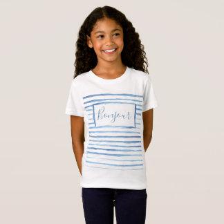 Painted Stripes Customizable Girls Shirt