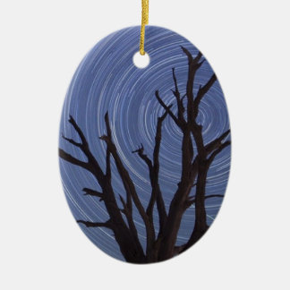 painting bare tree in the swirling wind christmas ornament