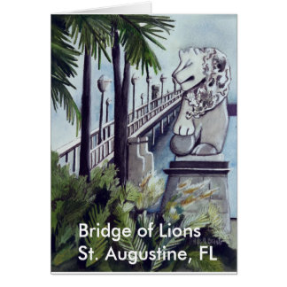 "Painting by Linda M. Brandt, ""Bridge of Lions"" Card"