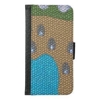 Painting mosaic samsung galaxy s6 wallet case