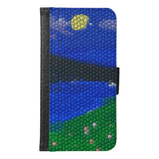 Painting Mosaic tile Samsung Galaxy S6 Wallet Case