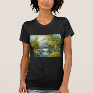 Painting Of A Mini Waterfall T-Shirt
