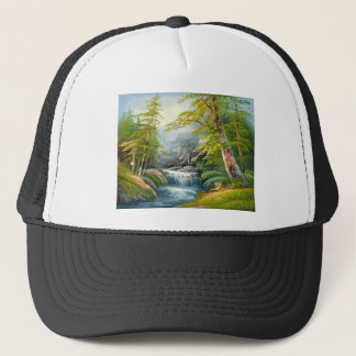 Painting Of A Mini Waterfall Trucker Hat