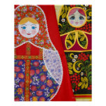Painting of Russian Matryoshka doll