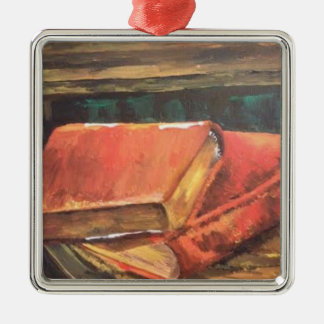 Painting of vintage books Christmas Ornament