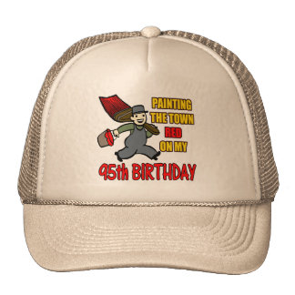 Painting The Town 95th Birthday Gifts Cap