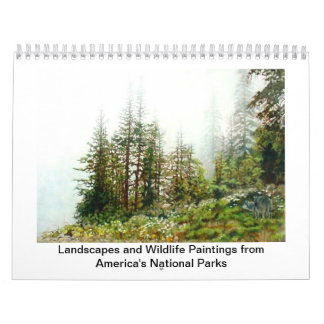 Paintings from America's National Parks Calendars