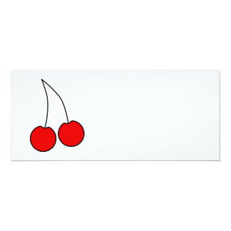 Pair of Cherries. Black, Red and White. Announcements