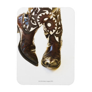 Pair of cowboy shoes 2 rectangular photo magnet