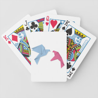 Pair of pigeons 3 bicycle playing cards