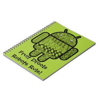 Paisley Doodle Character for the Android™ robot Note Books