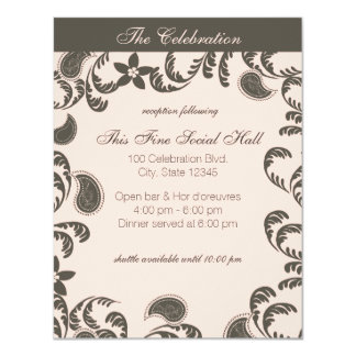 Paisley Floral Reception Card