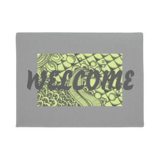 Paisley Green Doormat