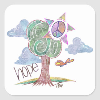 Paisley Hope Tree Stickers