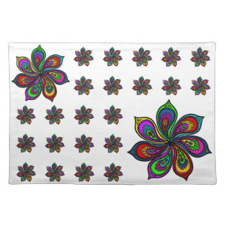 Paisley Pinwheel of Colors Placemat