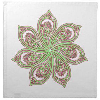Paisley Pinwheel Pink Green Napkin
