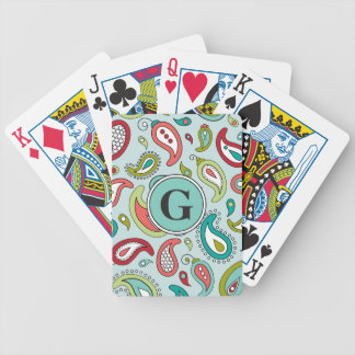 Paisley Playing Cards Personalized
