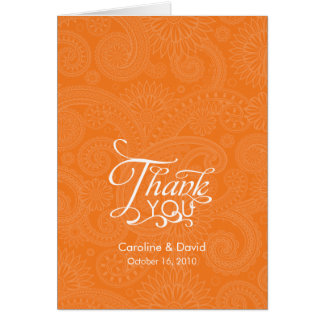Paisley Print Thank You Card