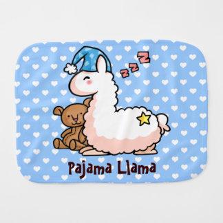 Pajama Llama Burp Cloths
