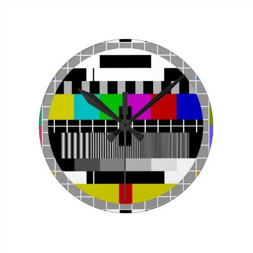 PAL TV test signal Round Clock