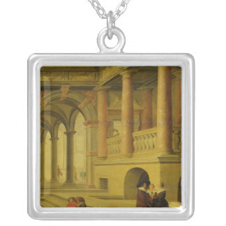 Palace Courtyard Silver Plated Necklace