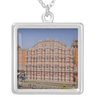 Palace of the Winds (Hawa Mahal), Jaipur, India, Silver Plated Necklace