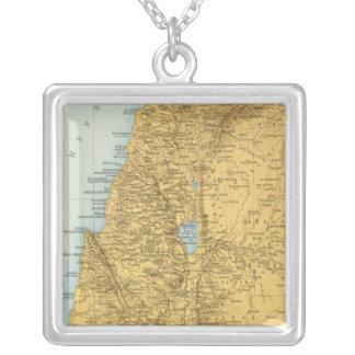 Palastina - Palestine Atlas Map Silver Plated Necklace