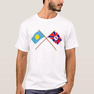 Palau and Melekeok Crossed Flags T-Shirt