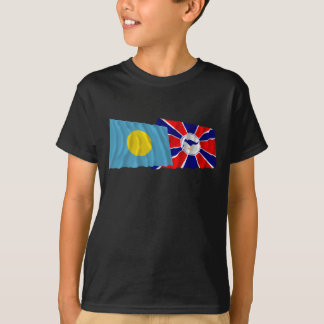 Palau and Melekeok Waving Flags T-Shirt
