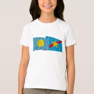 Palau and Ngaraard Waving Flags T-Shirt