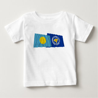 Palau and Ngeremlengui Waving Flags Baby T-Shirt